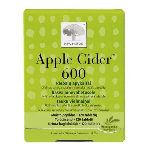 Для улучшения обмена веществ New Nordic Appel Cider™ 600 120 таблеток (NN-1009)