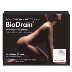 Средство для очистки организма New Nordic BioDrain® 60 таблеток