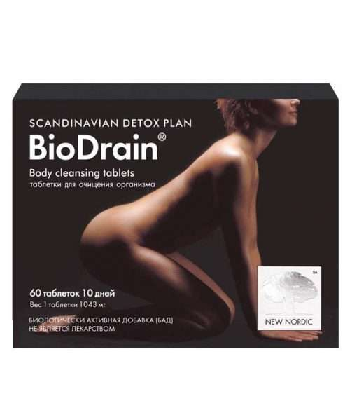 Средство для очистки организма New Nordic BioDrain® 60 таблеток (NN-660)