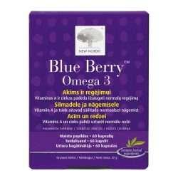 Средство для поддержания зрения New Nordic Blue Berry™ Omega 3 60 капсул (NN-1012)