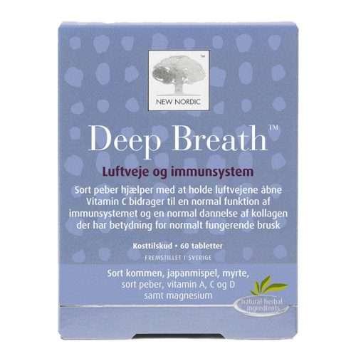 Дыхательная и имунная системы New Nordic Deep Breath™ 60 таблеток (NN-1018)