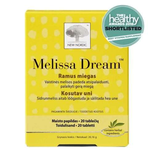 Средство для нормализации сна New Nordic Melissa Dream™ 20 таблеток (NN-1031)