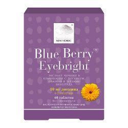 Средство для улучшения зрения Eyebright Blue Berry™, 60 таблеток
