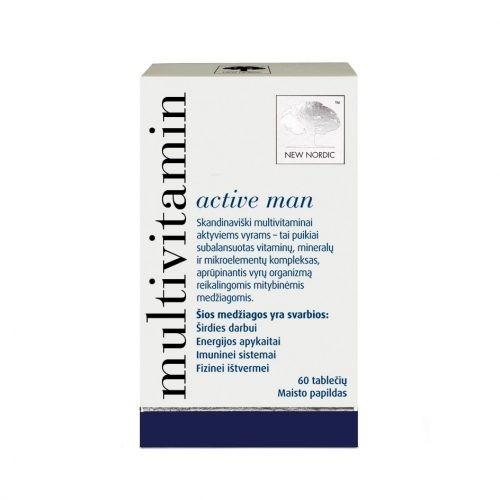 Витамины для мужчин Multivitamin active man™, 60 таблеток